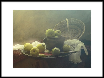 Art print titled Still Life With Quince by the artist UstinaGreen