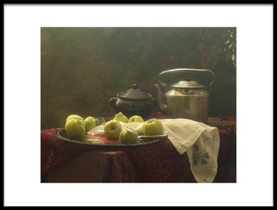 Art print titled Still Life With Quince and Kitchenware by the artist UstinaGreen