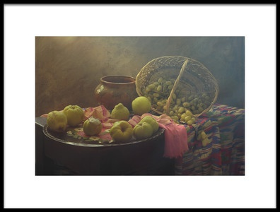Art print titled Still Life With Quince In Oriental Stile by the artist UstinaGreen