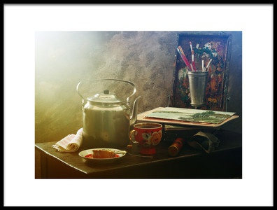 Buy this art print titled Still Life With Sketchbook by the artist UstinaGreen