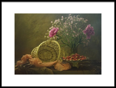 Art print titled Still Life With Strawberry by the artist UstinaGreen