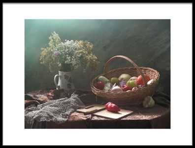Art print titled Still Life With Vegetable Basket by the artist UstinaGreen
