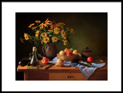 Art print titled Still Life With Vegetables by the artist Tatyana Skorokhod (Татьяна Скороход)