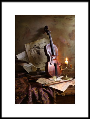 Buy this art print titled Still Life With Violin by the artist Andrey Morozov