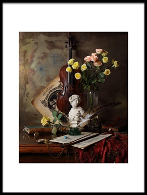 Buy this art print titled Still Life With Violin and Bust by the artist Andrey Morozov