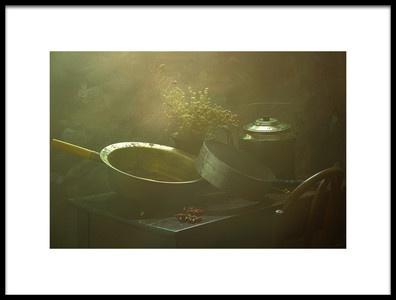 Art print titled StillLife  With Pumpkin by the artist UstinaGreen