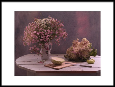 Art print titled StillLife In Pink Color by the artist UstinaGreen