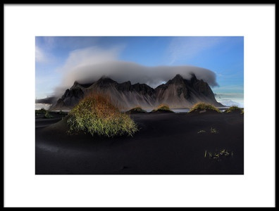 Art print titled Stokksnes and Vestrahorn  the Vatnajkull Region by the artist Ronny Olsson