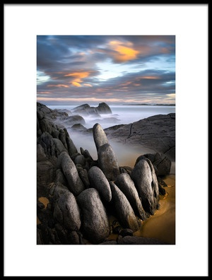 Art print titled Stone Gathering  Grey Rocks by the artist Francis Keogh