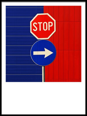 Art print titled Stop for Blue by the artist Jure Kravanja