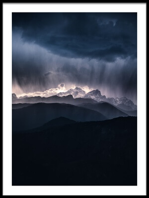 Art print titled Storm Above the Alps by the artist Ales Krivec
