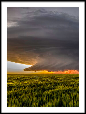 Art print titled Storm at Sunset by the artist Rob Darby