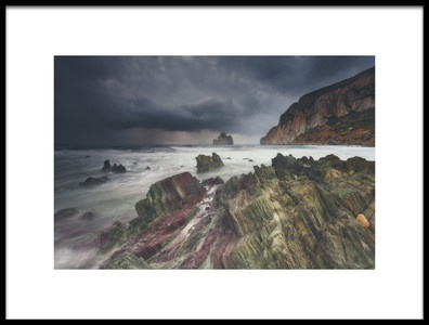 Art print titled Storm On the Horizon by the artist Daniele Atzori