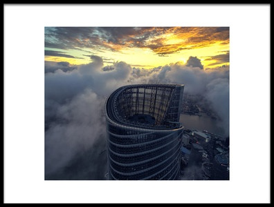 Art print titled Stormy Shanghai by the artist Stan Huang