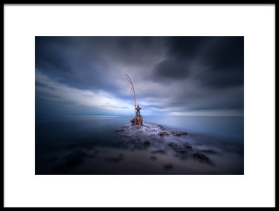 Art print titled Stormy Temple by the artist Clara Gamito