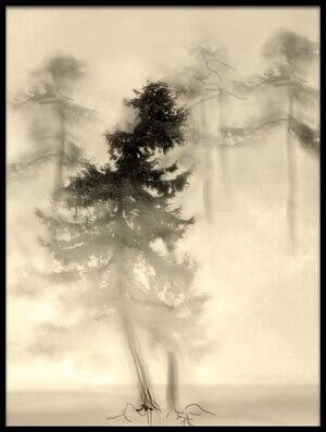 Art print titled Strange Forest I by the artist Anna Kudriavtseva