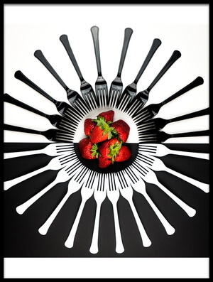 Art print titled Strawberry Designs by the artist Mike Melnotte