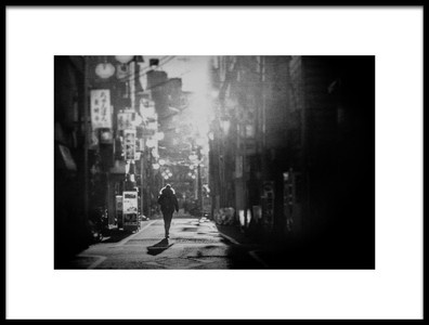 Art print titled Street , Morning by the artist Teruhiko Tsuchida