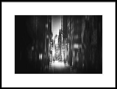 Art print titled Street by the artist Teruhiko Tsuchida