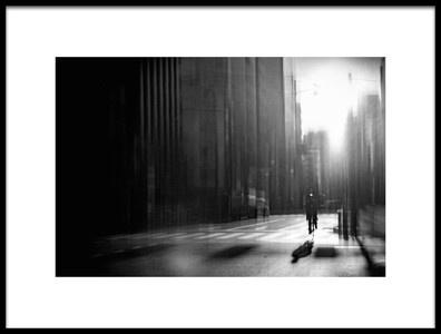 Art print titled Street, a Quiet Morning by the artist Teruhiko Tsuchida