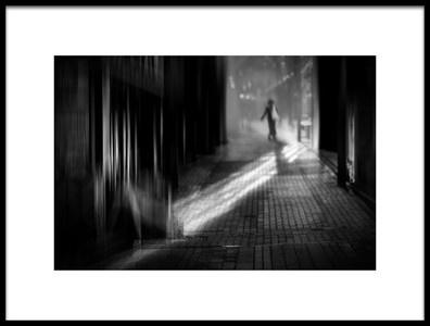 Art print titled Street, Morning by the artist Teruhiko Tsuchida