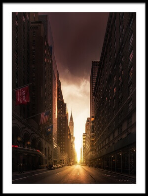 Art print titled Street of New York by the artist David Martín Castán