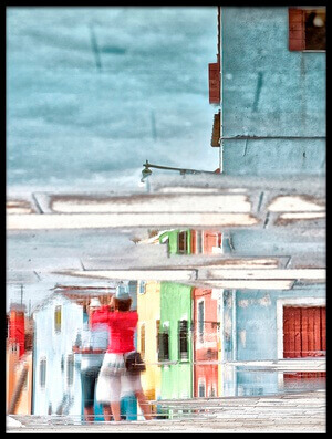 Buy this art print titled Street Reflection by the artist Krisztina Lacz