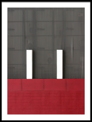 Art print titled Stripes by the artist Hans-Wolfgang Hawerkamp