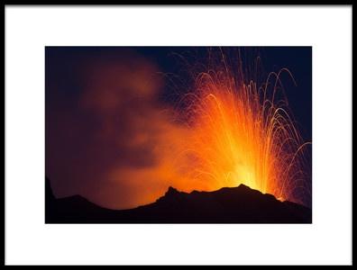 Art print titled Stromboli Volcano 2 by the artist jorge llovet