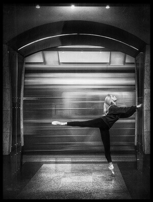 Buy this art print titled Subway Ballerina by the artist Boris Belokonov