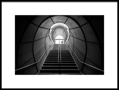 Art print titled Subway Exit by the artist Peru Serra