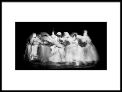Art print titled Sufi Dance In Motion by the artist Nader El Assy
