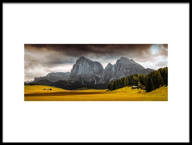 Art print titled Summers End at Seiser Alm by the artist Franz Engels
