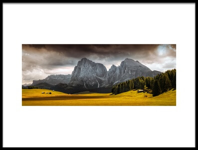 Art print titled Summer's End at Seiser Alm by the artist Franz Engels