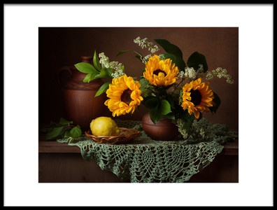 Art print titled Sunflowers by the artist Alina Lankina