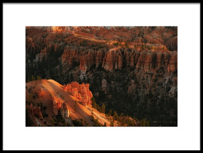 Art print titled Sunrise at Bryce Canyon by the artist 李从军 / Austin Li