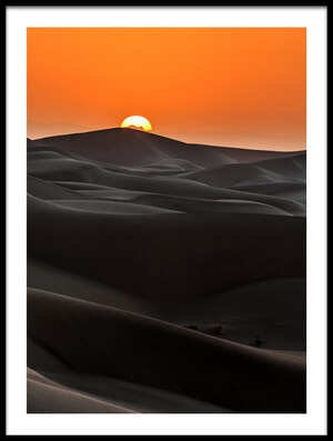 Art print titled Sunrise Behind the Mountains by the artist Babak Mehrafshar (Bob)