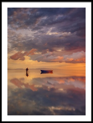 Art print titled Sunrise In Delta Del Ebre by the artist joanaduenas