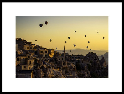 Buy this art print titled Sunrise Over Cappadocia by the artist Yavuz Pancareken