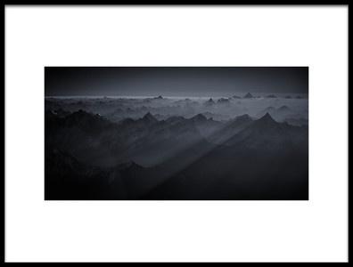 Art print titled Sunrise Over the Karakoram by the artist Martin Van Hoecke