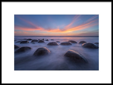 Art print titled Sunset at Bowling Ball Beach by the artist April Xie