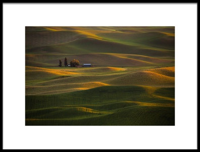 Art print titled Sunset at Rolling Hills by the artist April Xie