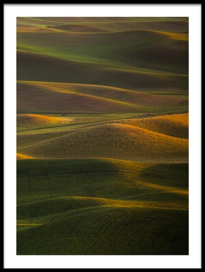 Buy this art print titled Sunset at Rolling Hills by the artist April Xie
