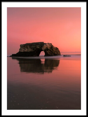 Art print titled Sunset at the Natural Bridge-2 by the artist Rob Li