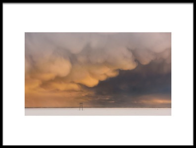 Art print titled Sunset Clouds by the artist 李从军 / Austin Li