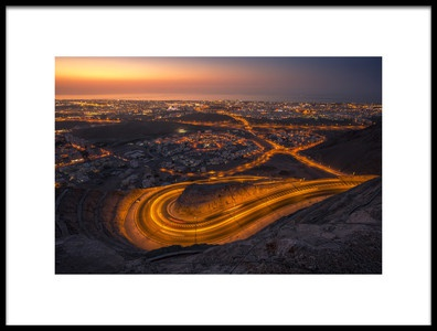 Art print titled Sunset from Muscat by the artist oman hamed