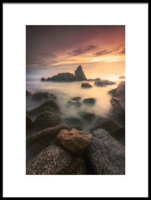 Art print titled Sunset In Cala Trons by the artist Roser Gimeno