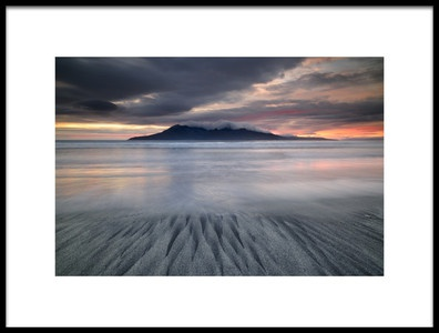 Art print titled Sunset In Laig Beach by the artist Roberto Marchegiani
