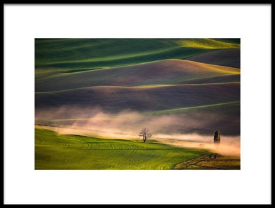 Art print titled Sunset In Palouse by the artist April Xie