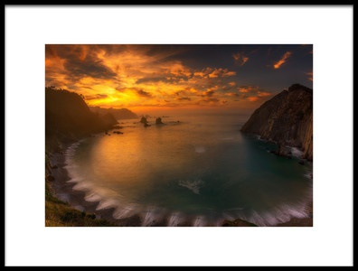Art print titled Sunset In Silence by the artist Alfonso maseda varela